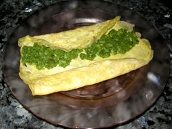 Spinach Omelet.